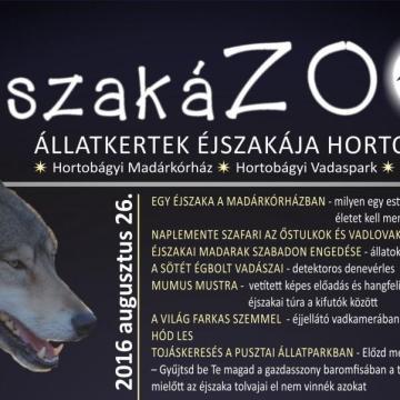 ÉjszakáZOO - állatkertek éjszakája program a Hortobágyon