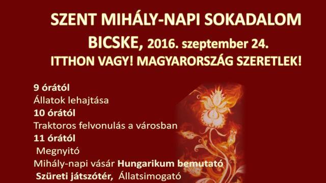 Szombaton lesz a Szent Mihály napi sokadalom