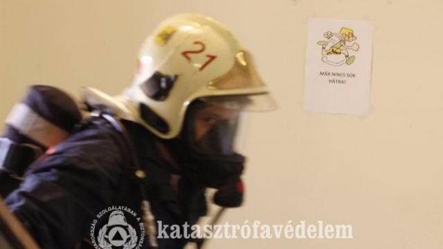 Pécsi tűzoltópáros nyerte meg az országos lépcsőfutó versenyt