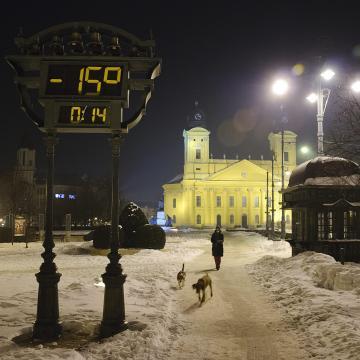 Akár mínusz 20 foknál is hidegebb lehet a hétvégén