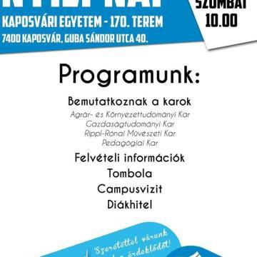 Szombaton nyílt napot tart a Kaposvári Egyetem