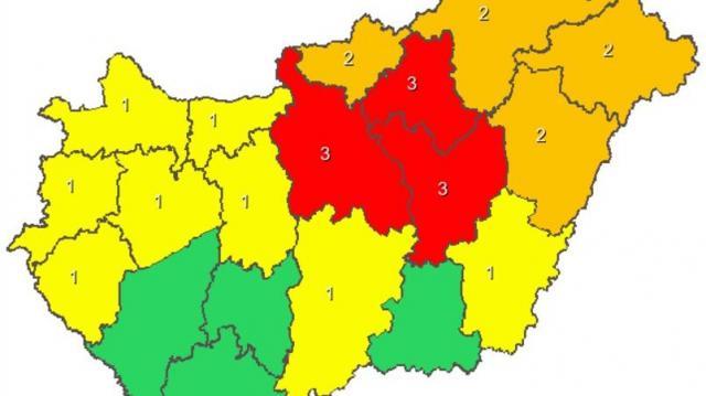 Több helyen mérsékelték a riasztásokat