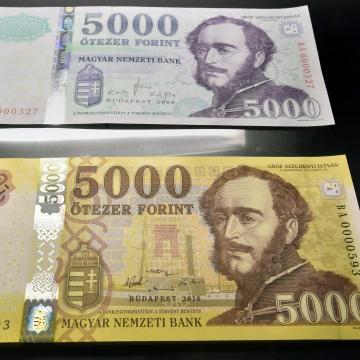 Március 1-jén forgalomba kerül az új 2000 és 5000 forintos bankjegy