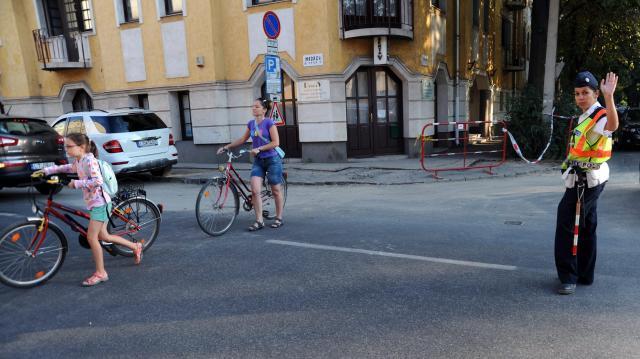 A kerékpárosokat ellenőrizték a rendőrök Kaposváron
