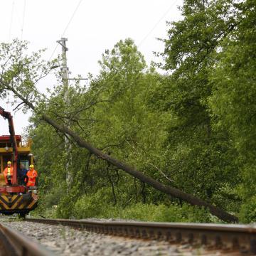 Megjavították a felsővezetéket a Kaposvár-Gyékényes-Dombóvár vonalon