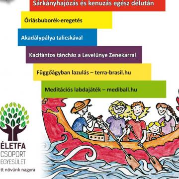 Sárkányhajózás kacifántos gyerekekkel