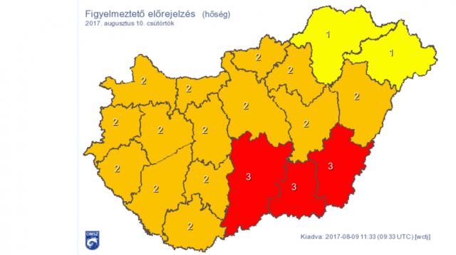 Hőség - Meteorológiai szolgálat: újabb hőhullám érte el az országot