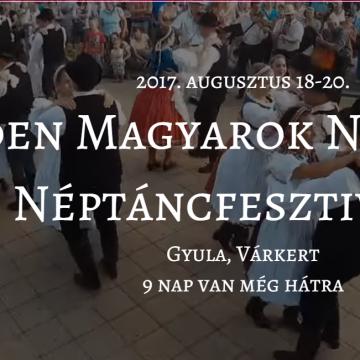 Minden Magyarok Nemzetközi Néptáncfesztiválja - Augusztus 17-20.
