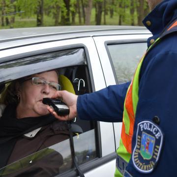 Négy sofőrnél jelzett az alkoholszonda