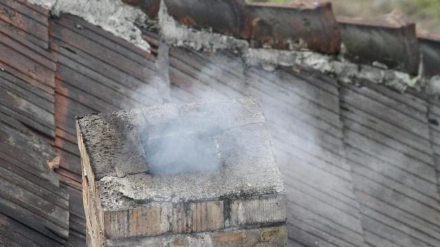 Kigyulladt egy kémény a Kopácsi dűlőben