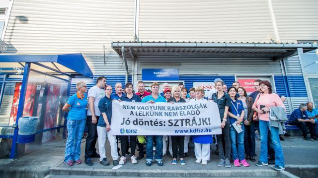 Tesco-sztrájk - Tizennyolc áruház zárt be