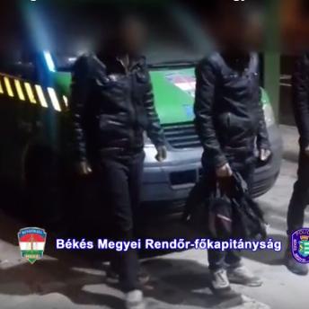 Tizenkilenc határsértőt fogtak el Békés megyében