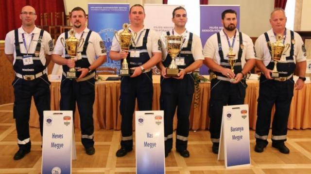 Ezüstérmes lett a megyei balesethelyszínelő csapat