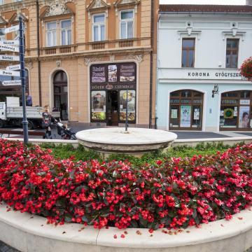 Nincs szebb, a kaposvári Kossuth térnél