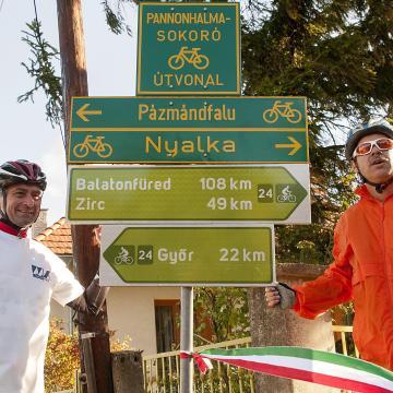 NFM: megkezdődött a turisztikai kerékpárutak táblázása