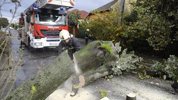 Több mint 750-szer riasztották a szélvihar miatt a tűzoltókat
