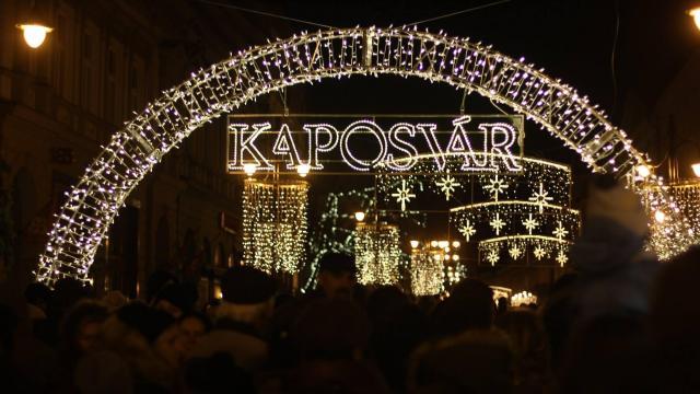 Karácsonyra készül Kaposvár