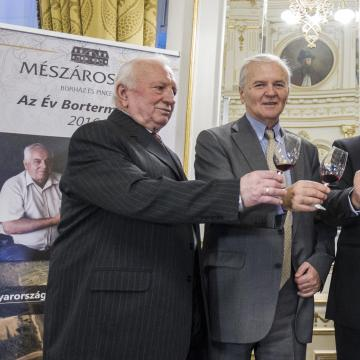 """""""Év Bortermelője Magyarországon 2017"""" választás eredményhirdetése"""