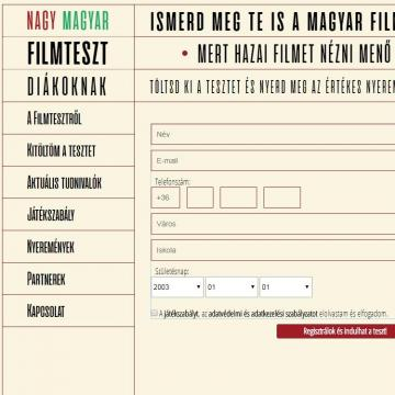 Január 31-ig lehet kitölteni a Nagy Magyar Filmteszt első fordulóját
