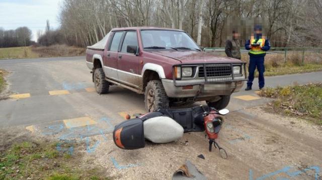 Kisteher ütött el egy elektromos biciklis férfit