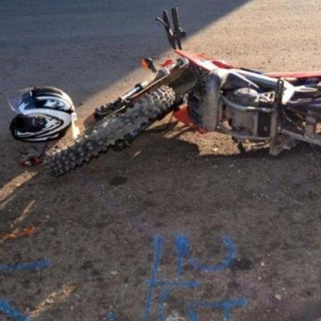 Motorral esett a jeges úton egy 15 éves fiú