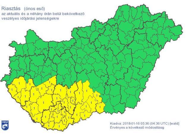 Riasztás ónos eső miatt térségünkben