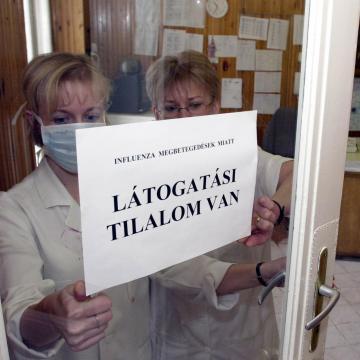 Influenza - Látogatási tilalom lép életbe pénteken az egri kórházban