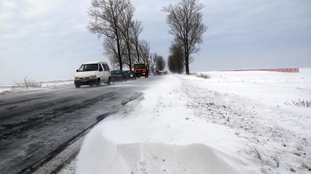 Hófúvásra és havazásra adtak ki keddre figyelmeztetést