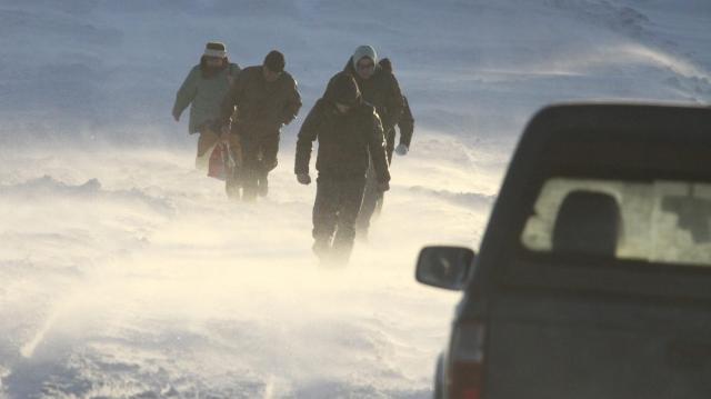 Hófúvás nehezíti a közlekedést térségünkben