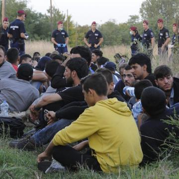 Több mint harminc migránst találtak egy kamionban Csanádpalotánál