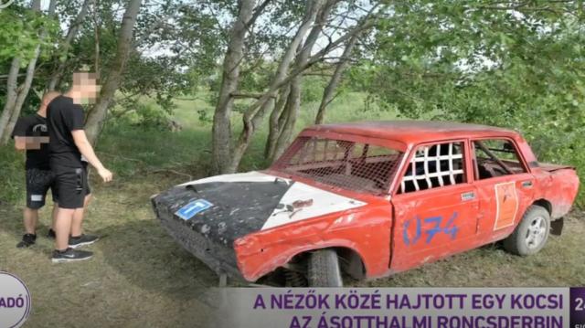 Nézők közé hajtott egy autó az ásotthalmi roncsderbin