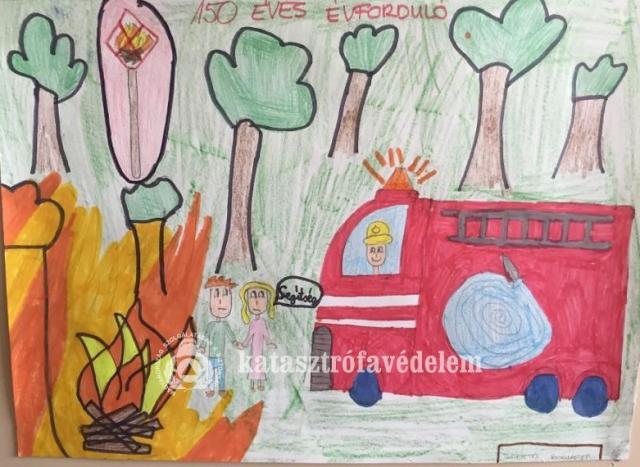 Díjazták a legügyesebb gyerekeket a tűzoltók