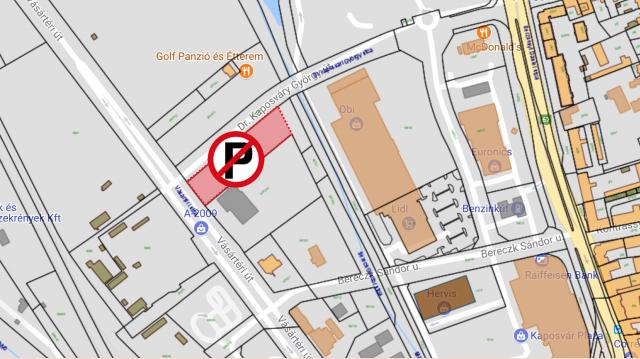 Lezártak egy parkolót Kaposváron