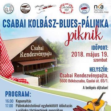 Csabai kolbász-blues-pálinka piknik