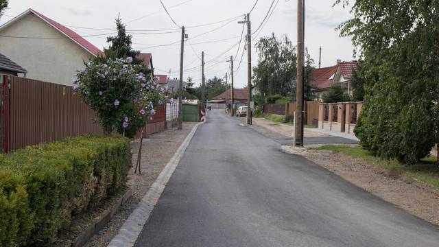 Befejeződött az útépítés a Kisdobos utcán
