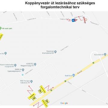 Forgalomkorlátozás a Koppányvezér úton