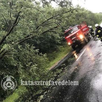 Sok munkát adott a viharos időjárás a térségben