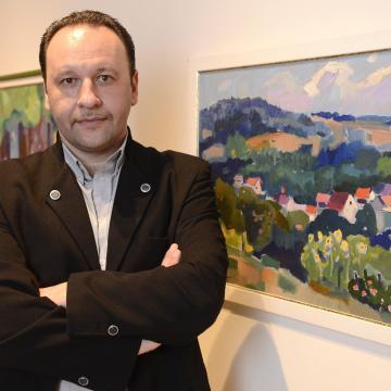 Kárpátaljai festők alkotásaiból nyílt kiállítás Győrben
