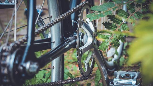 Besurrant az udvarra, majd egy biciklivel távozott