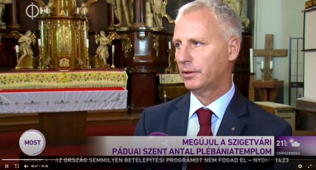 Felújítják a Páduai Szent Antal Plébániatemplomot - VIDEÓVAL