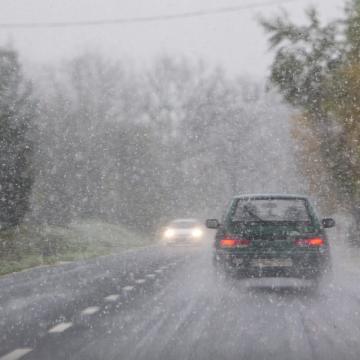 Havas eső, havazás is lehet a hét elején
