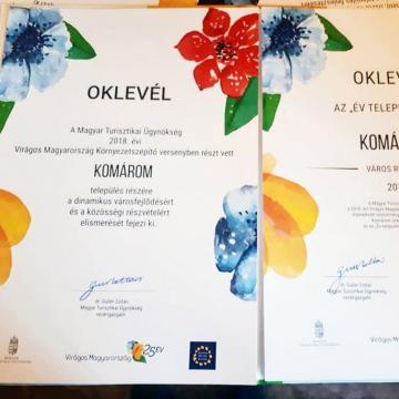 Komárom lett az Év települése a Virágos Magyarország versenyen
