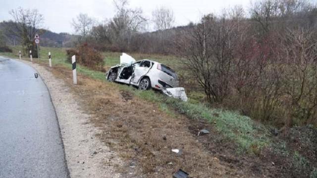 Megcsúszás okozta a kamionos balesetet Tokodnál