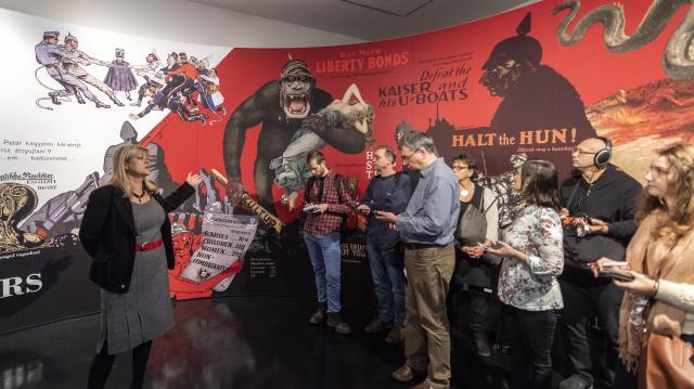 Megnyitották a Várkert Bazár teljes első világháborús kiállítását