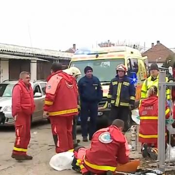Felrobbant egy gázpalack, hárman megsérültek Szolnokon