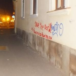 Festékkel fújtak feliratokat több ház falára