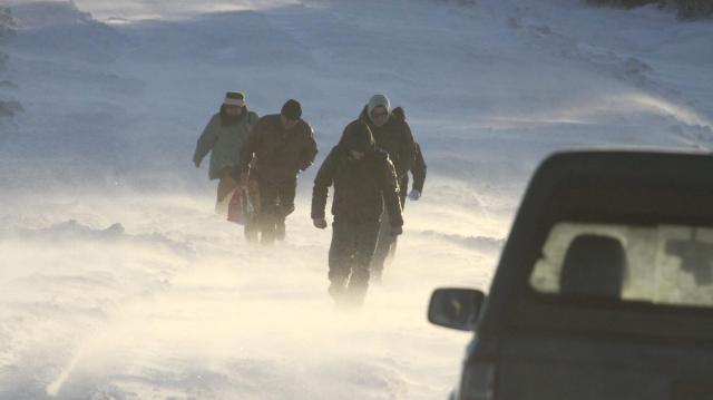 A fél országban hófúvásra figyelmeztetnek
