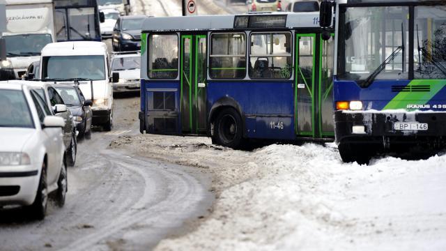 A hóesés miatt nem közlekedik néhány BKK-járat