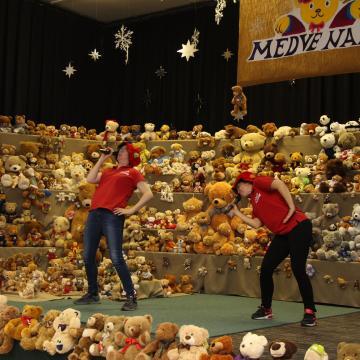 Medvék lepték el a szőnyi művelődési házat