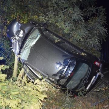 Bódult állapotban vezetett, balesetet szenvedett